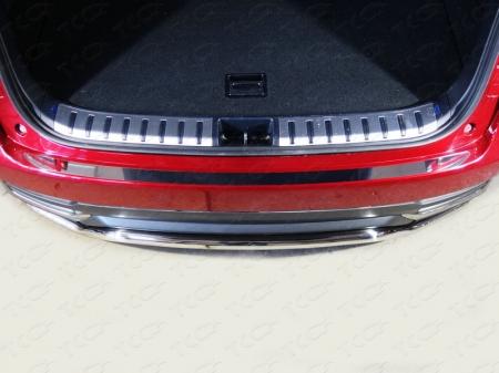 Lexus NX 200 2017-Накладка на задний бампер (лист зеркальный)